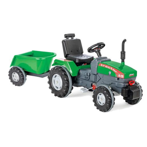 Tractor cu pedale si remorca Pilsan SUPER Verde