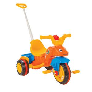 Tricicleta cu maner parental Pilsan CATERPILLAR Portocalie