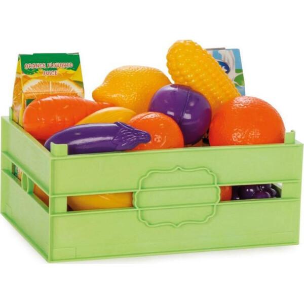 Ladita cu fructe si legume 16 piese PILSAN Verde