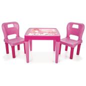 Set masa cu doua scaune Pilsan HOBBY DESK Roz